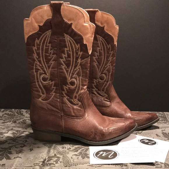 a3d8144ab4a Ladies 7.5 Brown Cowboy Boots Coconuts by Matisse